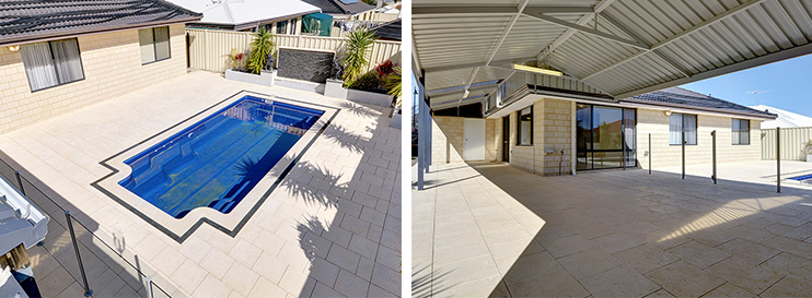 Image of a swiming pool and patio